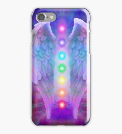 Angel,chakra system, spiritual,love,faith,healing,healer iPhone Case/Skin
