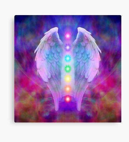 Angel,chakra system, spiritual,love,faith,healing,healer Canvas Print