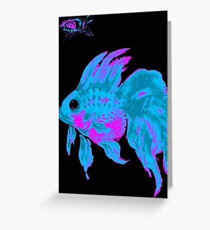 cool electric goldfish & bug Greeting Card