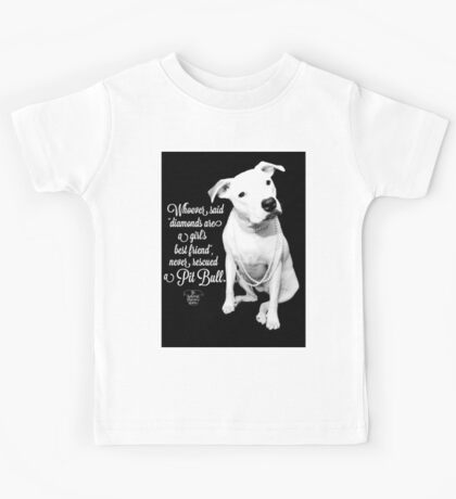 Girls Best Friend Rescued Pit Bull Kids Tee