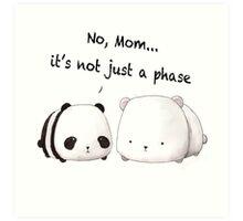 Emo Panda Art Print