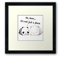 Emo Panda Framed Print