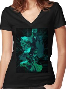 Metal Gear Solid (3 of 10) Women's Fitted V-Neck T-Shirt