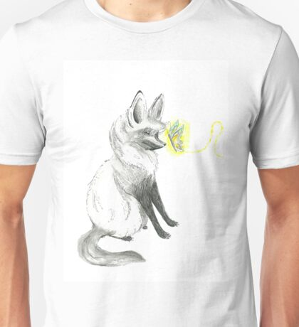 Fox and Butterfly Unisex T-Shirt