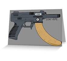 COSMIC NANA GUN  Greeting Card