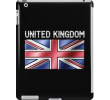 United Kingdom - British Flag & Text - Metallic iPad Case/Skin