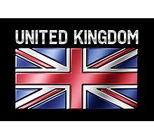 United Kingdom - British Flag & Text - Metallic Photographic Print