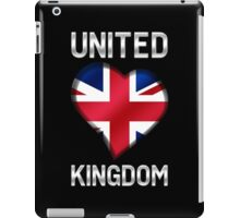 United Kingdom - British Flag Heart & Text - Metallic iPad Case/Skin