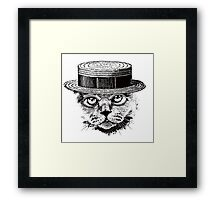 The Most Interesting Cat In The Hat Framed Print