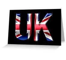 UK - British Flag - Metallic Text Greeting Card