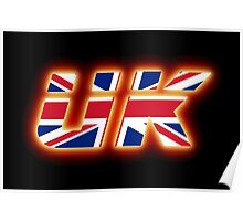 UK - Flag Logo - Glowing Poster