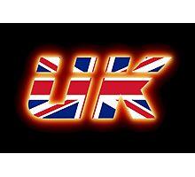 UK - Flag Logo - Glowing Photographic Print