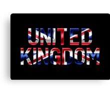 United Kingdom - British Flag - Metallic Text Canvas Print