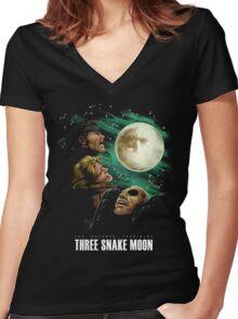Les Enfants Terribles - Three Snake Moon Women's Fitted V-Neck T-Shirt
