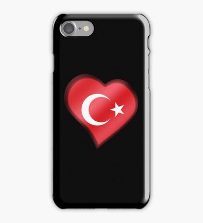 Turkish Flag - Turkey - Heart iPhone Case/Skin