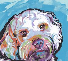 Cockapoo Dog Bright colorful pop dog art by bentnotbroken11