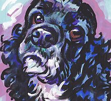 American Cocker Spaniel Dog Bright colorful pop dog art by bentnotbroken11