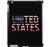 United States - American Flag - Metallic Text iPad Case/Skin