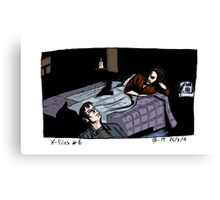 X-Files - Bed Canvas Print