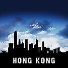 Hong Kong Skyline Cityscape at Nightfall by T-ShirtsGifts