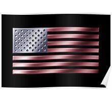 American Flag - USA - Metallic Poster