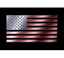 American Flag - USA - Metallic Photographic Print