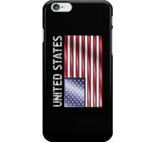 United States - American Flag & Text - Metallic iPhone Case/Skin