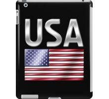 USA - American Flag & Text - Metallic iPad Case/Skin