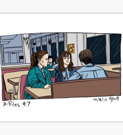 X-Files - Diner Sticker
