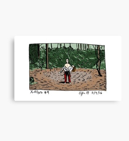 X-Files - Leaves Canvas Print