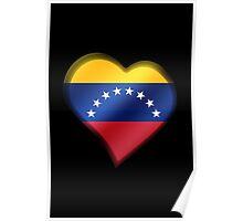 Venezuelan Flag - Venezuela - Heart Poster