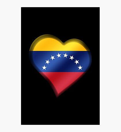 Venezuelan Flag - Venezuela - Heart Photographic Print