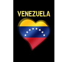 Venezuela - Venezuelan Flag Heart & Text - Metallic Photographic Print