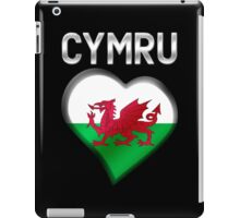 Cymru - Welsh Flag Heart & Text - Metallic iPad Case/Skin