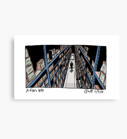 X-Files - Shelves Canvas Print
