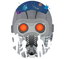 Look Into StarLords Helmet Photographic Print