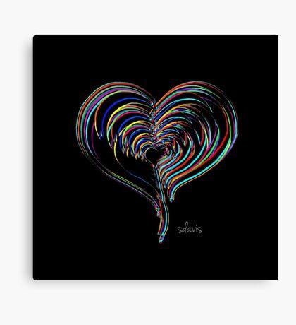 Heart Fractal Colorful 102316 Canvas Print