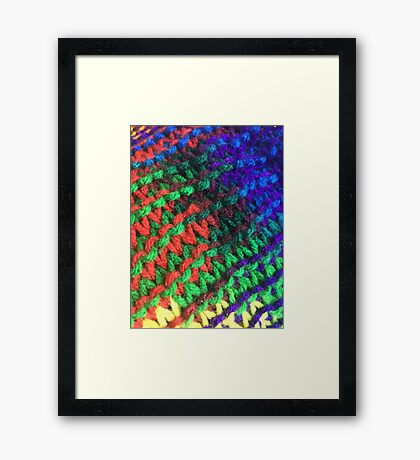 Colored warmth Framed Print