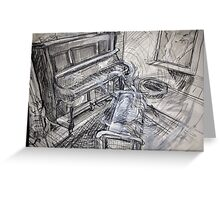 A Ghost at the Piano, (Commissioned Piece) Greeting Card