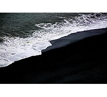 Black Beach Photographic Print
