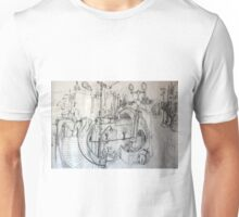 Melbourne Amalgum (Graphite Sketch of Key Landmarks I Studied) Unisex T-Shirt