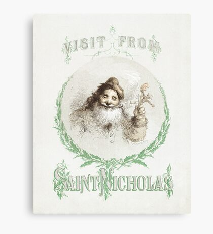 Vintage Visit from St. Nicholas Illustration Canvas Print
