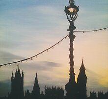 westminster street lamp by cocosuspenders