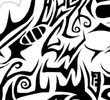 Black Dragon head Sticker