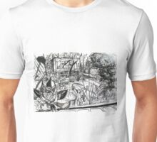 A Sketch of my Back Garden of my Last Rental Property in Footscray Unisex T-Shirt
