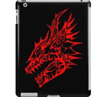 Red Dragon head tribal iPad Case/Skin