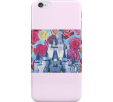 cinderella castle floral. iPhone Case/Skin