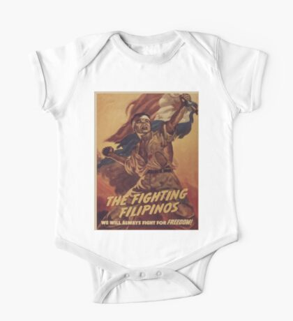 Vintage poster - The Fighting Filipinos One Piece - Short Sleeve