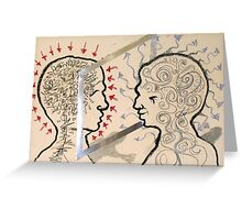 Mirrored Anxiety (The Duality) Greeting Card