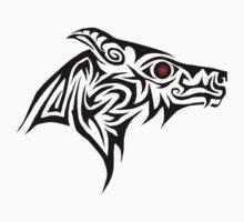 Dark Wolf profile One Piece - Long Sleeve